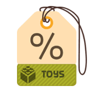 Toys Product Discounts Label